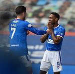 02.05.2121 Rangers v Celtic: Jermain Defoe with Ianis Hagi after goal no 4