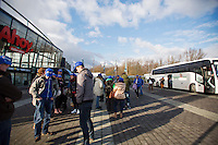 09-02-13, Tennis, Rotterdam, qualification ABNAMROWTT, Bus met van der Lans supporters