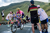 Hugh Carthy (GBR/EF Pro Cycling) up the Col de Peyresourde<br /> <br /> Stage 8 from Cazères-sur-Garonne to Loudenvielle 141km<br /> 107th Tour de France 2020 (2.UWT)<br /> (the 'postponed edition' held in september)<br /> ©kramon