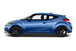 Car Driver side profile view of a 2016 Hyundai Veloster 1.6 Turbo Rally Edition Manual 4 Door Hatchback Side View