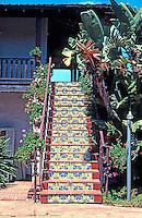 San Diego: Casa de Bandini--Rear--1829. (Restored.)  Photo 1978.