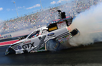 Sept. 14, 2012; Concord, NC, USA: NHRA funny car driver Mike Neff during qualifying for the O'Reilly Auto Parts Nationals at zMax Dragway. Mandatory Credit: Mark J. Rebilas-