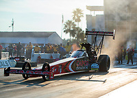 Sep 26, 2020; Gainesville, Florida, USA; NHRA top fuel driver Billy Torrence during qualifying for the Gatornationals at Gainesville Raceway. Mandatory Credit: Mark J. Rebilas-USA TODAY Sports