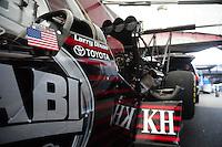 May 1, 2011; Baytown, TX, USA: NHRA top fuel driver Larry Dixon during the Spring Nationals at Royal Purple Raceway. Mandatory Credit: Mark J. Rebilas-