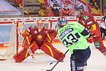 Schuss Tim Wohlgemuth (ERC Ingolstadt, Nr. 33) auf Mirko Pantkowski (Duesseldorfer EG, Nr. 30)<br /> im Spiel der Duesseldorfer EG gegen den ERC Ingolstadt (Penny DEL, 07.04..2021)<br /> <br /> Foto © PIX-Sportfotos *** Foto ist honorarpflichtig! *** Auf Anfrage in hoeherer Qualitaet/Aufloesung. Belegexemplar erbeten. Veroeffentlichung ausschliesslich fuer journalistisch-publizistische Zwecke. For editorial use only.