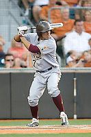 Arizona State Sun Devil shortstop Deven Marrero #17 at bat against the Texas Longhorns in NCAA Tournament Super Regional baseball on June 10, 2011 at Disch Falk Field in Austin, Texas. (Photo by Andrew Woolley / Four Seam Images)