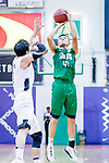 Au Yeung Wai Kong #41 of Tycoon Basketball Team tries to score against the HKPA during the Hong Kong Basketball League game between HKPA and Tycoon at Southorn Stadium on June 22, 2018 in Hong Kong. Photo by Yu Chun Christopher Wong / Power Sport Images