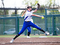 Madison Heinle (16) of Rogers pitching against Bentonville at Rogers High School, Rogers, Arkansas, on Tuesday, April 6, 2021 / Special to NWA Democrat Gazette