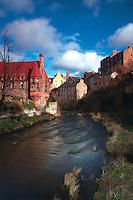 Well Court and the Water of Leith, Stockbridge, Edinburgh