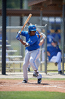 Toronto Blue Jays third baseman Vladimir Guerrero Jr. (6) at bat during a minor league Spring Training game against the New York Yankees on March 30, 2017 at the Englebert Complex in Dunedin, Florida.  (Mike Janes/Four Seam Images)