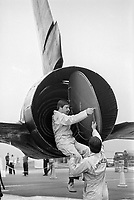 - U.S. Air Force strategic reconnaissance plane Lockheed SR-71 Blackbird on  Greenham Common English air base; engine maintenance <br /> <br /> - Aereo da ricognizione strategica Lockheed SR-71 Blackbird  dell' US Air Force sulla base aerea inglese di Greenham Common; manutenzione dei motori