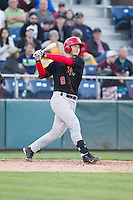 Ryan Hissey (9) of the Vancouver Canadians at bat during a game against the Everett Aquasox at Everett Memorial Stadium in Everett, Washington on July 16, 2015.  Vancouver defeated Everett 5-4. (Ronnie Allen/Four Seam Images)