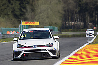 #48 Team WRT, Volkswagen Golf GTI TCR, Antti Buri (FIN). TCR Free Practice 1  as part of the WEC 6 Hours of Spa-Francorchamps 2016 at Circuit Spa-Francorchamps, Stavelot, Spa-Francorchamps, Belgium . May 05 2016. World Copyright Peter Taylor/PSP.