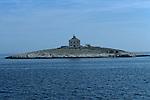 .Pokondiol light house near Hvar.Cruise in Croatia. Island of Dalmatia