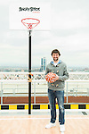 """Real Madrid baskeball player Sergio Llull during the presentation of the film """"Angry Birds"""" at the Flat Roof of Torre Picasso in Madrid. April 29,2016. (ALTERPHOTOS/Borja B.Hojas)"""