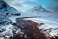 Buachaille Etive Beag and the River Coupall from near the Lagangarbh Hut, Glencoe, Highland