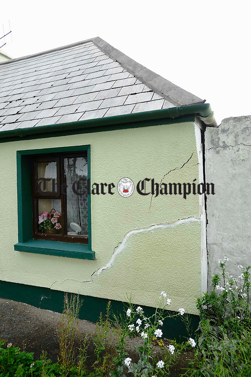 Damage caused to the house at Monmore, Kilrush. Photograph by John Kelly.