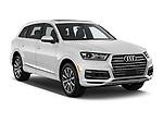 2017 Audi Q7 Premium 5 Door SUV angular front stock photos of front three quarter view