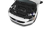 Car stock 2015 Volvo V60 Summum 5 Door Wagon engine high angle detail view