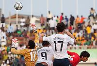 William Packwood and Jack McInerney go up for the ball. US Under-17 Men's National Team defeated United Arab Emirates 1-0 at Gateway International  Stadium in Ijebu-Ode, Nigeria on November 1, 2009.