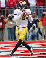 November 22, 2008. Michigan quarterback Nick Sheridan.  The Ohio State Buckeyes defeated the Michigan Wolverines 42-7 on November 22, 2008 at Ohio Stadium, Columbus, Ohio.