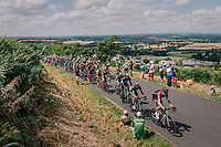 peloton up the 3rd climb of the day<br /> <br /> Stage 5: Lorient > Quimper (203km)<br /> <br /> 105th Tour de France 2018<br /> ©kramon