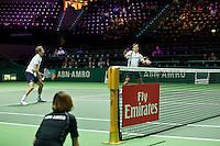 Rotterdam, The Netherlands, Februari 8, 2016,  ABNAMROWTT, Julien Benneteau (FRA) / Edouard Roger Vaseline (FRA), Fly Emirates<br /> Photo: Tennisimages/Henk Koster
