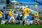 Michael O'Leary, Kerry in action against Joe Maskey, Antrim during the Joe McDonagh Cup Final match between Kerry and Antrim at Croke Park in Dublin.