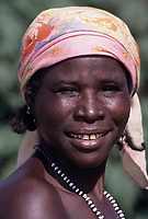 Maraka, near Madarounfa, Niger, West Africa.  Hausa Woman with Facial Scarification.