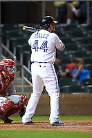 Salt River Rafters first baseman Rowdy Tellez (44) at bat during an Arizona Fall League game against the Glendale Desert Dogs on October 22, 2015 at Salt River Fields at Talking Stick in Scottsdale, Arizona.  Glendale defeated Salt River 7-5.  (Mike Janes/Four Seam Images)