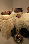 Israel, Tel Aviv, a replica of a Crusader kitchen from Apollonia at the Eretz Israel Museum