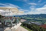 Austria, Vorarlberg, Sulzberg: Inn Alpenblick with sidewalk cafe on sun deck | Oesterreich, Vorarlberg, Sulzberg: Gasthof Alpenblick mit grosser Sonnenterrasse