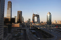 The central bussiness district in Beijing, China.