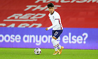 SWANSEA, WALES - NOVEMBER 12: Ulysses Llanez Jr #21 of the United States moving with the ball during a game between Wales and USMNT at Liberty Stadium on November 12, 2020 in Swansea, Wales.
