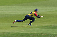 Sam Cook takes a catch to dismiss Liam Dawson from the bowling of Aron Nijjar during Hampshire Hawks vs Essex Eagles, Vitality Blast T20 Cricket at The Ageas Bowl on 16th July 2021