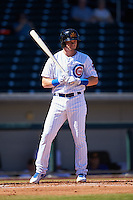Mesa Solar Sox Ian Happ (12), of the Chicago Cubs organization, during a game against the Surprise Saguaros on October 14, 2016 at Sloan Park in Mesa, Arizona.  Mesa defeated Surprise 10-4.  (Mike Janes/Four Seam Images)