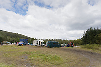 Pictured: The site where the party took place. Monday 31 August 2020<br /> Re: Around 70 South Wales Police officers executed a dispersal order at the site of an illegal rave party, where they confiscated sound gear used by the organisers in woods near the village of Banwen, in south Wales, UK.
