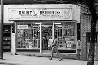 1987 File Photo - Montreal, Quebec CANADA - importation shop on Saint-Lawrence Boulevard
