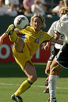 Victoria Svensson, Germany 2-1 over Sweden at the  WWC 2003 Championships.