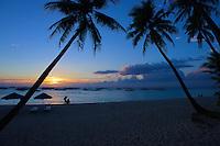 Boracay Island at sunset, Philippines
