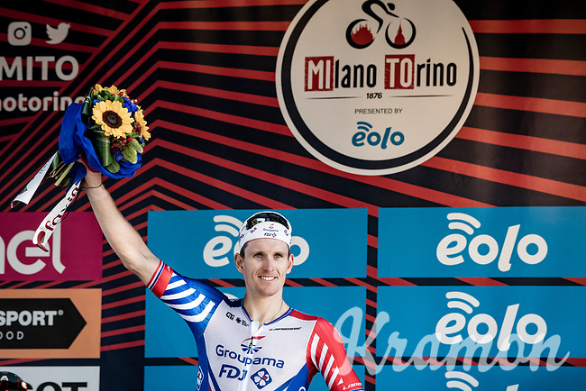 Arnaud Démare (FRA/Groupama-FDJ) wins this atypical version of Milano-Torino > which, for once, was transformed into a sprint race as to accomodate the Milano-Sanremo riders that will dispute that race just days later... thx to the covid-related race calender reshuffle.<br /> <br /> 101st Milano-Torino 2020 (UCI 1.Pro)<br /> 1 day race from Mesero to Stupinigi (198km)