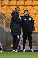 Wolverhampton Wanderers head coach Nuno Espírito Santo (left) and Assistant Head Coach Rui Pedro Silva (right) <br /> <br /> Photographer David Horton/CameraSport<br /> <br /> The Premier League - Wolverhampton Wanderers v Fulham - Sunday 4th October 2020 - Molineux Stadium - Wolverhampton<br /> <br /> World Copyright © 2020 CameraSport. All rights reserved. 43 Linden Ave. Countesthorpe. Leicester. England. LE8 5PG - Tel: +44 (0) 116 277 4147 - admin@camerasport.com - www.camerasport.com