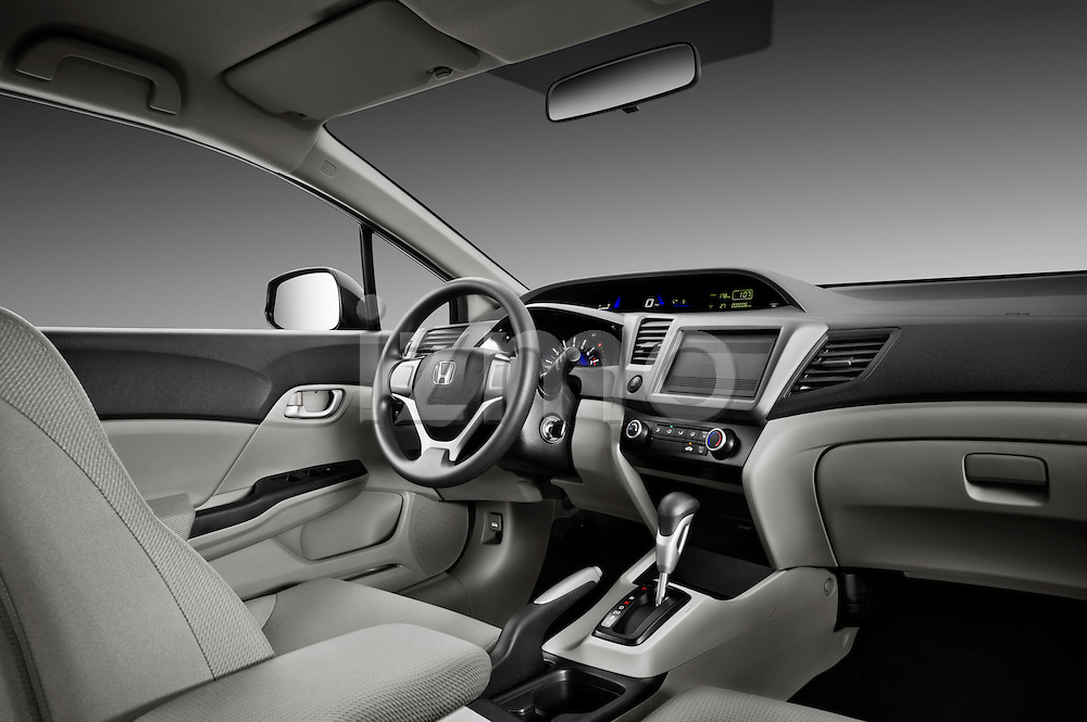 Passenger dashboard view of a 2012 Honda Civic Sedan DX.