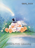 Ron, CUTE ANIMALS, Quacker, paintings, 2 ducks, star(GBSG6459,#AC#) Enten, patos, illustrations, pinturas