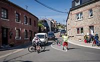 local road marchal<br /> <br /> 107th Liège-Bastogne-Liège 2021 (1.UWT)<br /> 1 day race from Liège to Liège (259km)<br /> <br /> ©kramon