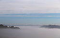 03/10/16 <br /> <br /> Victoria Prospect Tower and Riber Castle pokes through the mist as a cloud inversion shrouds the Derwent Valley, above Matlock Bath in the Derbyshire Peak District.<br /> <br /> All Rights Reserved: F Stop Press Ltd. +44(0)1773 550665   www.fstoppress.com