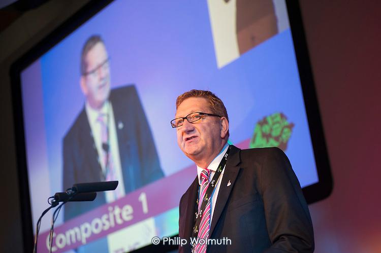 Len McCluskey, Unite the Union General Secretary. TUC Congress 2011 London.