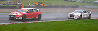 23rd August 2020; Oulton Park Circuit, Little Budworth, Cheshire, England; Kwik Fit British Touring Car Championship, Oulton Park, Race Day;  Andy Neate Motorbase Performance driving a Ford Focus ST  leads Bobby Thompson GKR TradePriceCars driving a Audi S3  in race 1