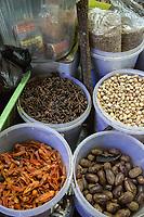 Yogyakarta, Java, Indonesia.  Spices: Nutmeg, Cardamom, Anis, Flower Petals, Beringharjo Market.