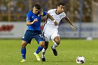 SAN SALVADOR, EL SALVADOR - SEPTEMBER 2: Tyler Adams #4 of the United States battle for a ball during a game between El Salvador and USMNT at Estadio Cuscatlán on September 2, 2021 in San Salvador, El Salvador.